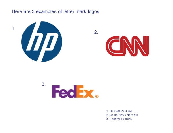 examples of letter mark logos