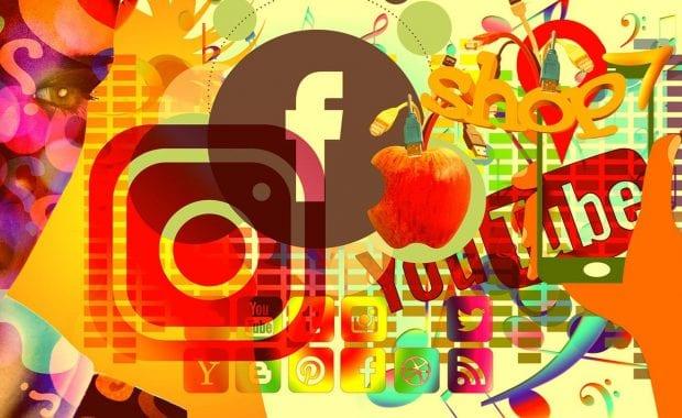 social media icon art