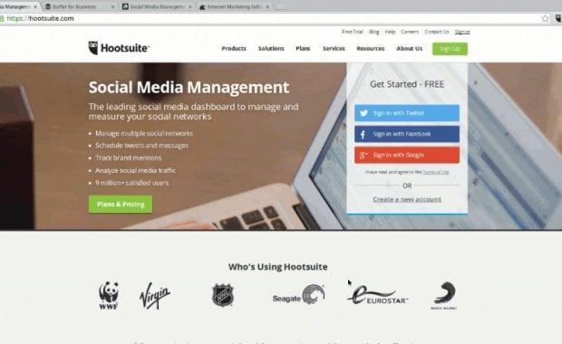 Social media management platform free trials.