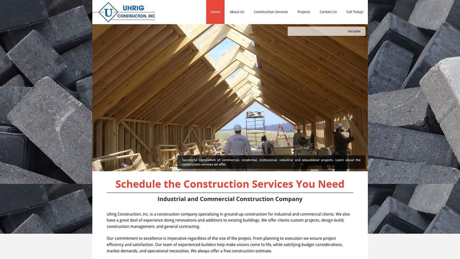Uhrig Construction Website