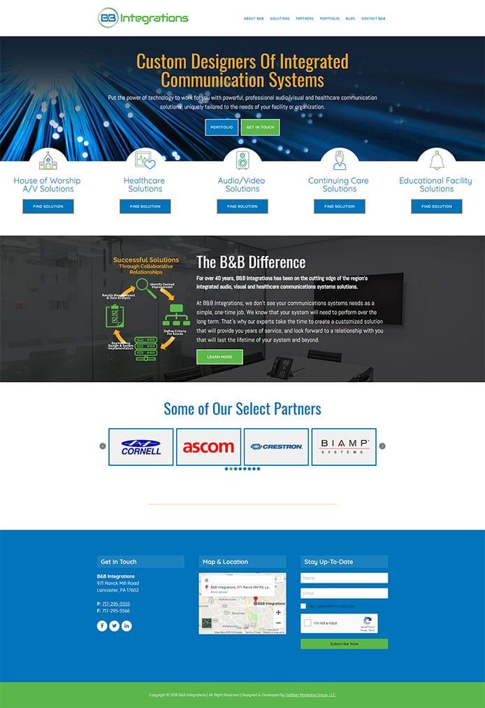 Web Design For B B Integrations Of Lancaster Pa 17602