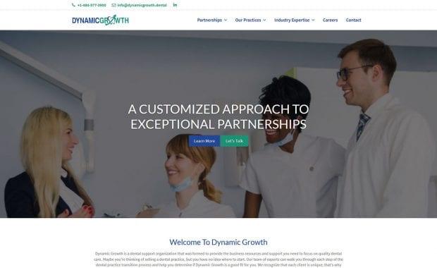 Dynamic Growth Website