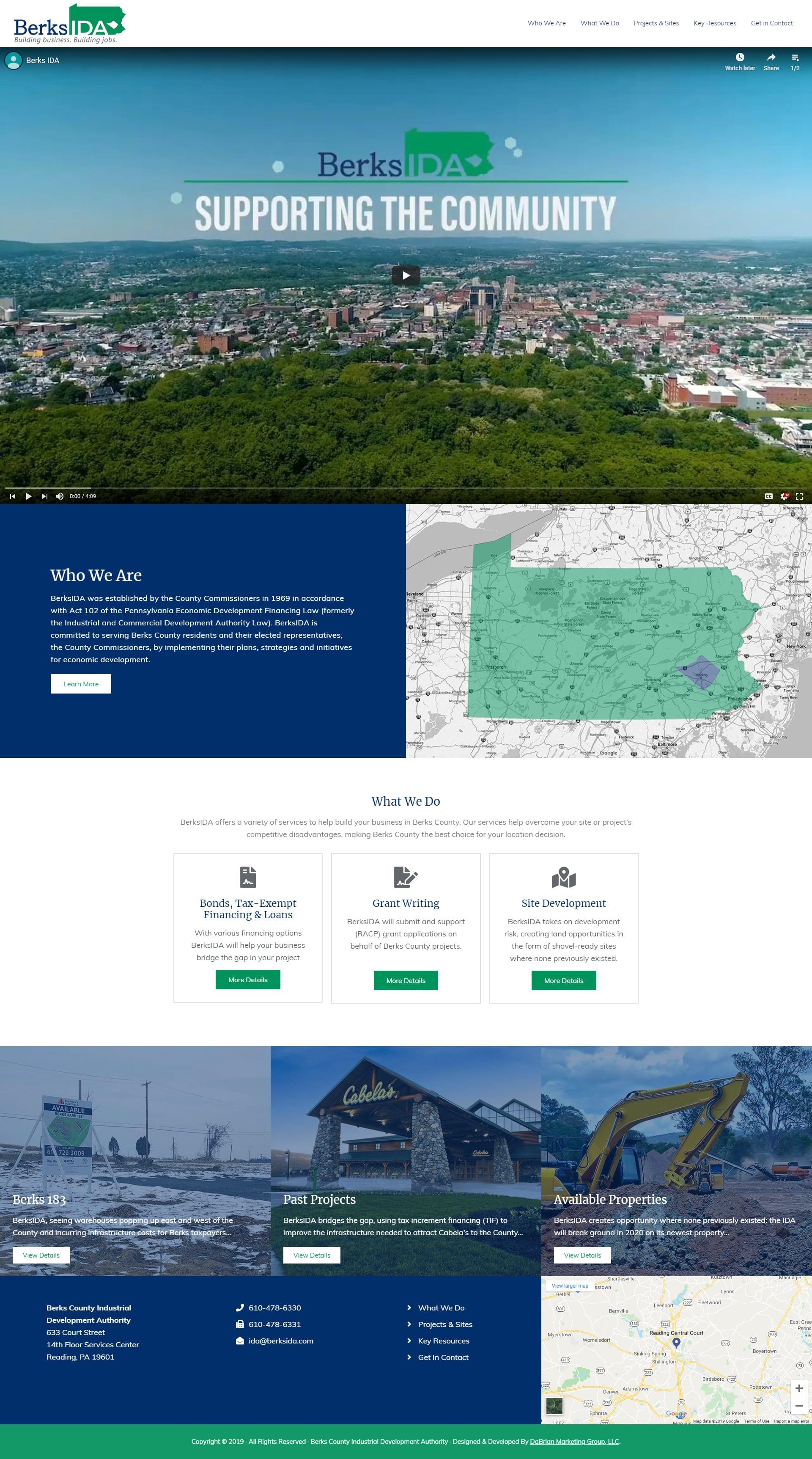 Berks County Industrial Development Authority (BerksIDA) New website and logo